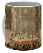 Papal Ceremony In St Peter In Rome Under The Canopy Of Bernini Coffee Mug
