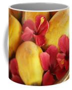 Papaya Fruit And Hibiscus Coffee Mug