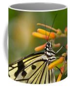 Paper Kite Butterfly With Orange Flower Coffee Mug