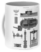 Paper Mill Diagram, 1814 Coffee Mug