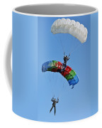Parachutists Biplane Coffee Mug