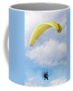 Paraglider Floating In The Clouds Coffee Mug