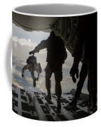 Paratroopers Jump Out Of A Kc-130j Coffee Mug