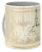 Parchment Paris - City Of Light Chandelier Candelabra Chalk Coffee Mug