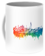 Pardubice Skyline City Color Coffee Mug