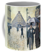 Paris A Rainy Day Coffee Mug by Gustave Caillebotte