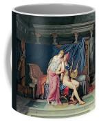 Paris And Helen Coffee Mug by Jacques Louis David