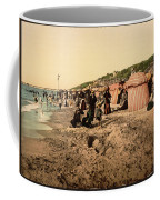 Trouville France Beach - The Good Old Days Coffee Mug