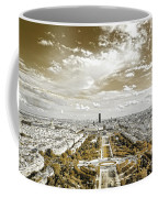Paris City View 20 Sepia Coffee Mug