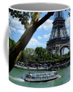 Paris Eiffel Boat Coffee Mug