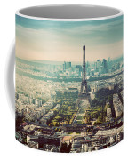 Paris, France Vintage Skyline, Panorama. Eiffel Tower, Champ De Mars Coffee Mug