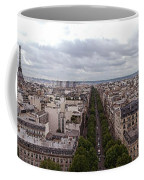 Paris From The Arch De Triumph Coffee Mug