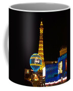 Paris Hotel At Night Coffee Mug