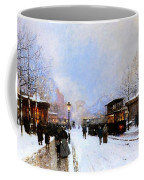 Paris In Winter Coffee Mug by Luigi Loir