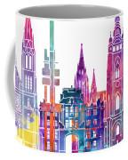 Amsterdam Landmarks Watercolor Poster Coffee Mug