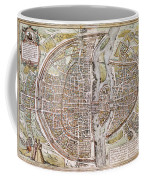 Paris Map, 1581 Coffee Mug