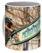 Paris Metro Sign Color Coffee Mug