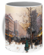 Paris, Porte Saint Denis In Winter Coffee Mug
