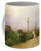 Paris Seen From The Heights Of Montmartre Coffee Mug by Jean dAlheim