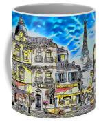 Paris Street Abstract 3 Coffee Mug