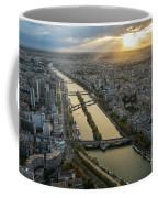 Paris Sunrays Dusk Along The Seine Coffee Mug