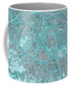Paris Traffic Abstract Blue Map Coffee Mug