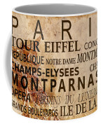 Paris Vintage Poster Coffee Mug by Delphimages Photo Creations