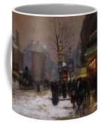 Paris Winter Scene Coffee Mug