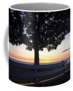 Park Bench At Dawn Coffee Mug