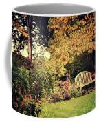 Park Bench, Fall Coffee Mug