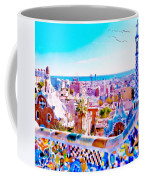 Park Guell Watercolor Painting Coffee Mug