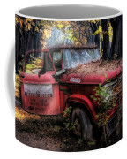 Parked On A Country Road Oil Painting Coffee Mug