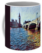 Parliament Across The Thames Coffee Mug
