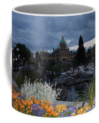Parliament Building In Victoria At Dusk Coffee Mug