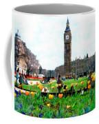 Parliament Square London Coffee Mug by Kurt Van Wagner