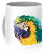 Parrot Ara Watercolor Painting Coffee Mug