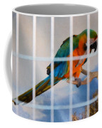 Parrot In A Cage Coffee Mug