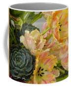 Parrot Tulips And Desert Succulents Coffee Mug