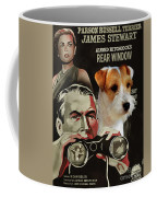 Parson Russell Terrier Art Canvas Print - Rear Window Movie Poster Coffee Mug
