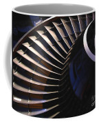 Partial View Of Jet Engine Coffee Mug by Yali Shi