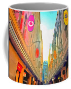 Passage Between Colorful Buildings Coffee Mug
