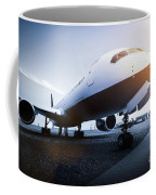 Passenger Airplane On The Airport Parking Coffee Mug