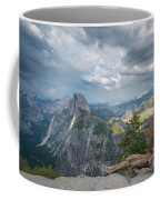 Passing Clouds Over Half Dome Coffee Mug