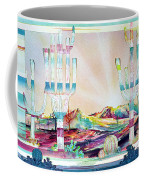 Pastel Desert Landscape Coffee Mug