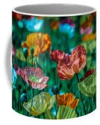 Pastel Poppies On Blue Haze Coffee Mug