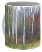 Pastel Tree Abstract Coffee Mug