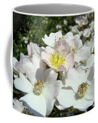 Pastel White Yellow Pink Roses Garden Art Prints Baslee Coffee Mug