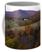 Patch Worked Mountains In Vermont Coffee Mug