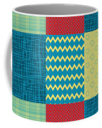Patchwork Patterns - Muted Primary Coffee Mug