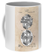 patent art Edison 1888 Phonograph Coffee Mug